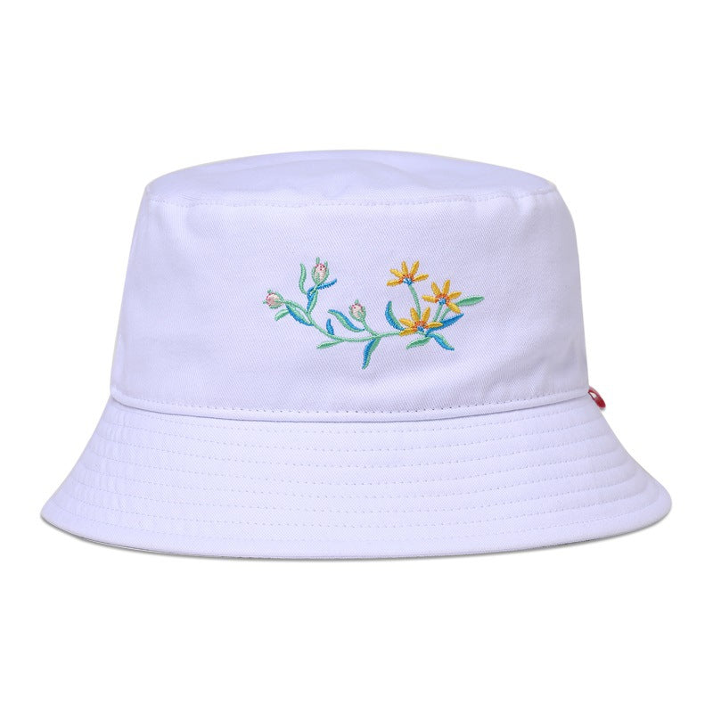 Bucket Hat Fashion All-Match White Fisherman Hat Women