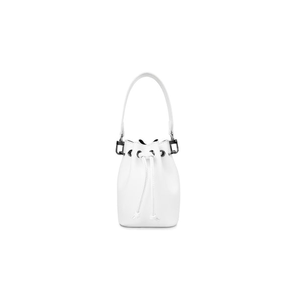 Leather Handbag White - Fitiny