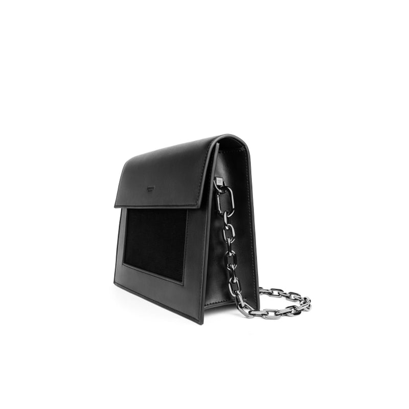 Leather Shoulder Bag Black Purse - Fitiny