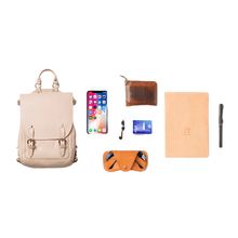 Load image into Gallery viewer, Handmade Mini Leather Backpack