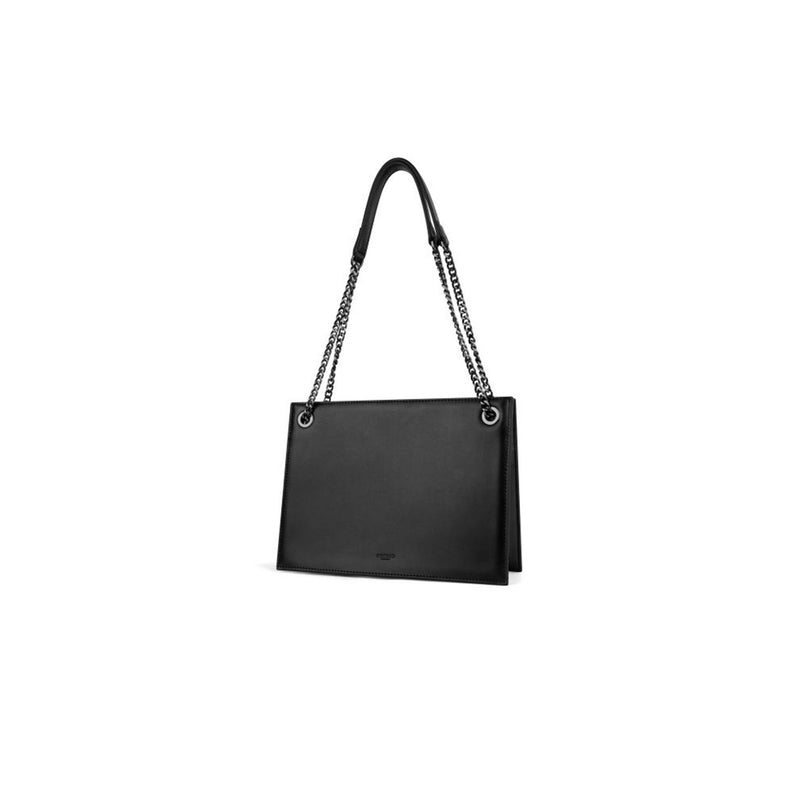 Leather Double Chain Shoulder Bag - Fitiny
