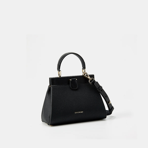 Magnetic Buckle Leather Handbag - Fitiny