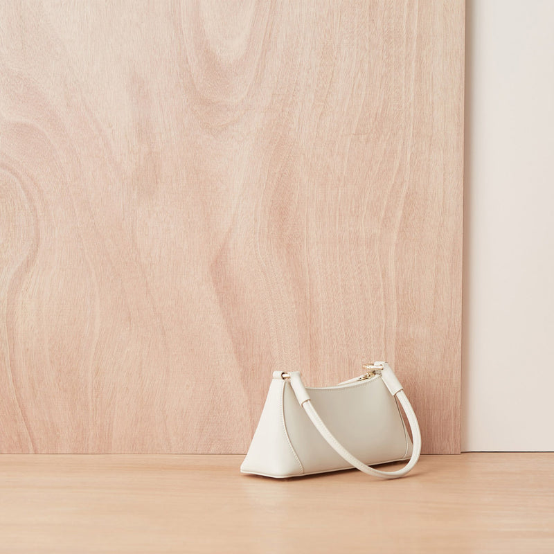 Leather Handbag White Color - Fitiny