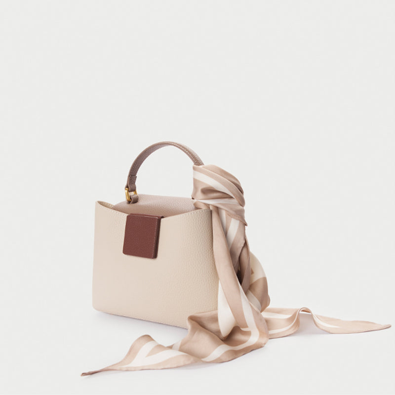 Lychee Leather Bucket Bag - Fitiny