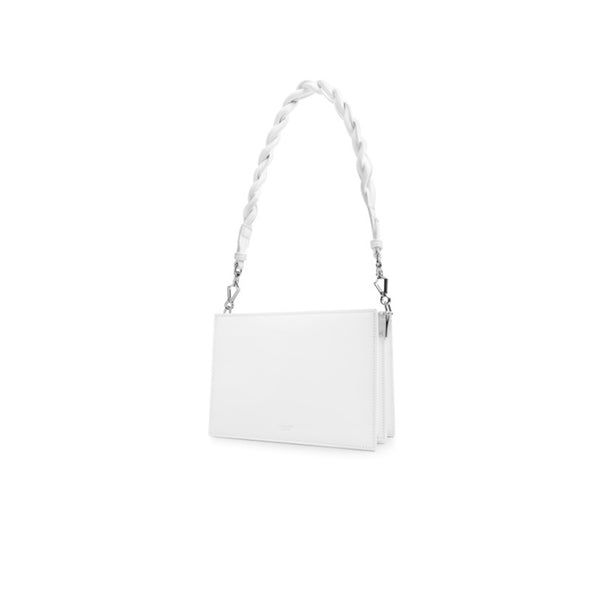 Leather Shoulder Bag White - Fitiny
