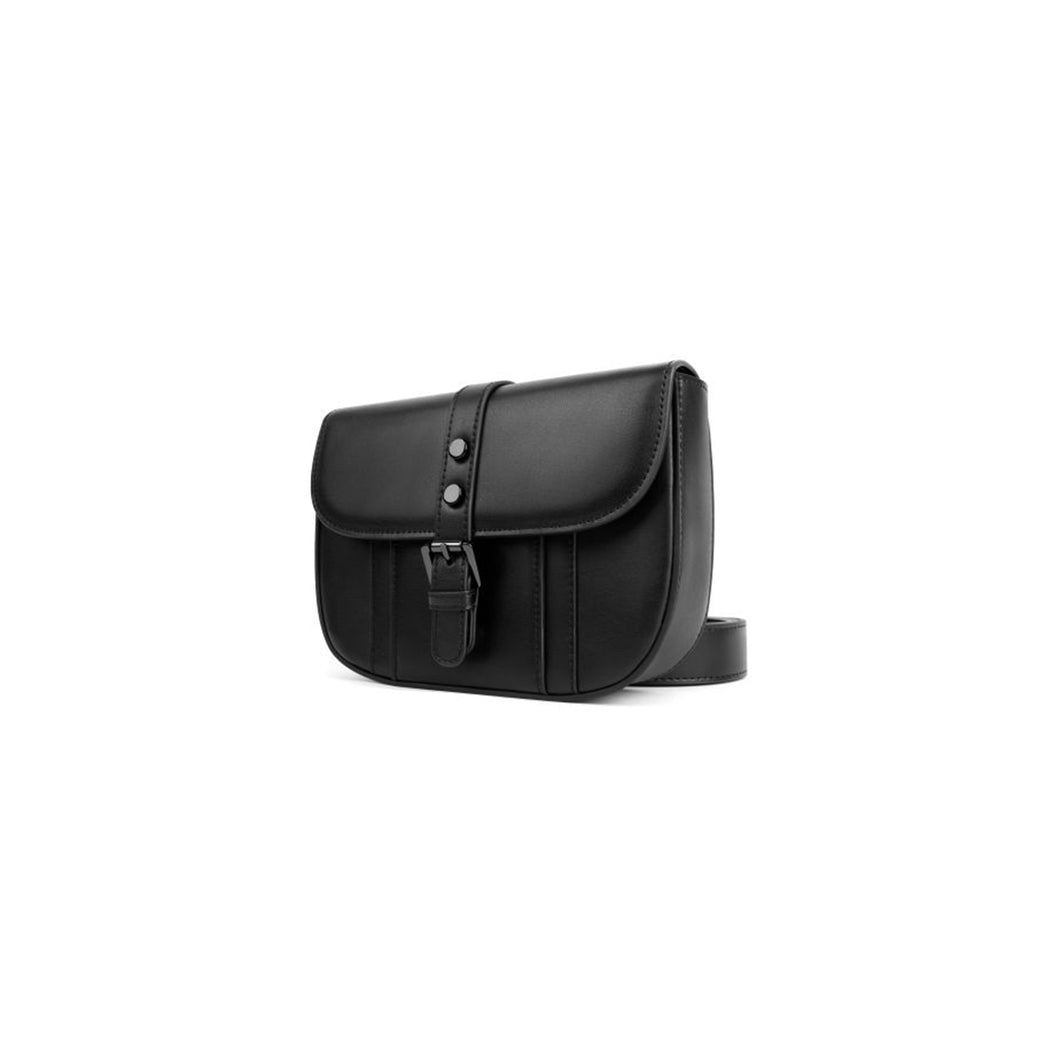 Leather Cross Body Bag Black