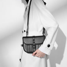 Load image into Gallery viewer, Leather Cross Body Bag Black