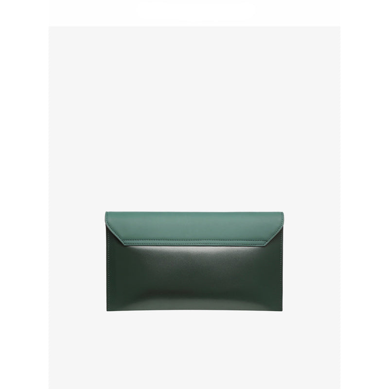 Leather Shoulder Bag Green - Fitiny