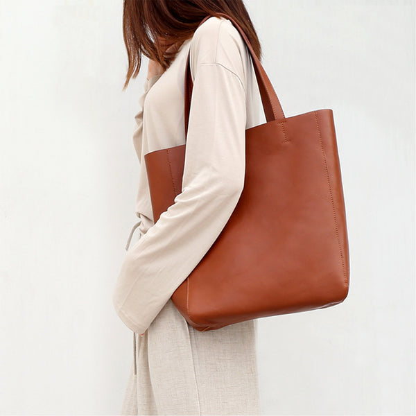 Leather Shoulder Bag High-capacity - Fitiny