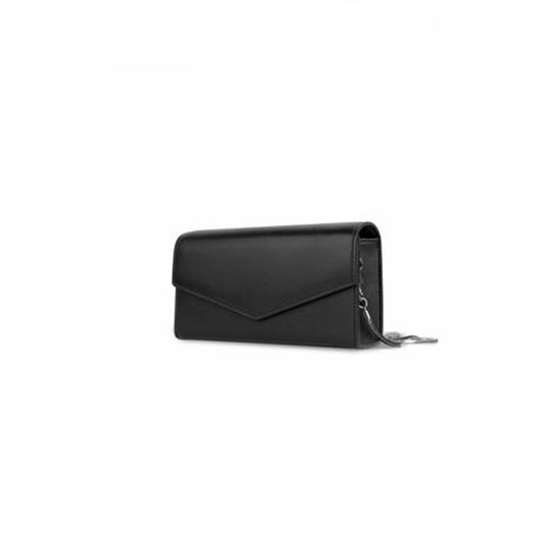 Leather Cross Body Bag Black - Fitiny