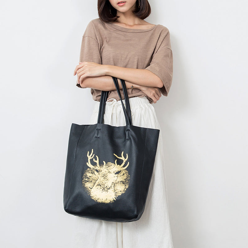 Leather Tote Hand Bag - Fitiny