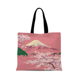 Mount Fuji retro hand-painted canvas bag out shopping bag