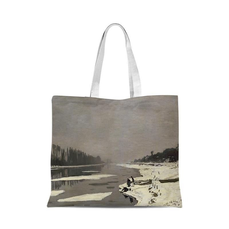 Canvas bag outing environmental protection folding shopping bag 35-40cm