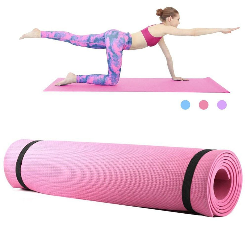 6mm Thick EVA Foam Yoga Mat Non Slip Yoga Pilates Exercise Fitness Mat 68X24 Inch