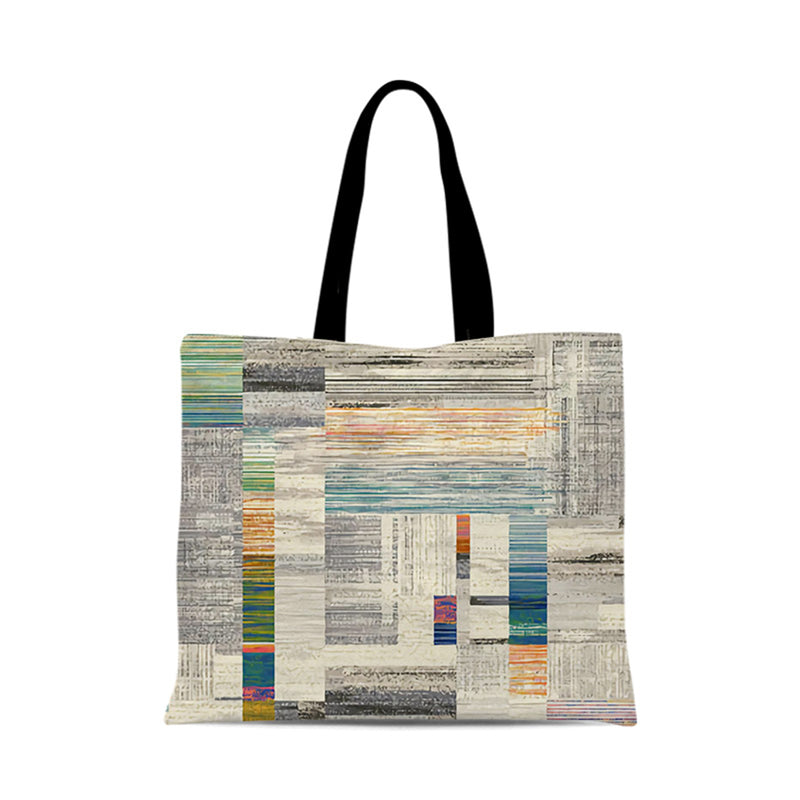 Abstract Watercolor Creative One-shoulder Canvas Bag Foldable Shopping Bag