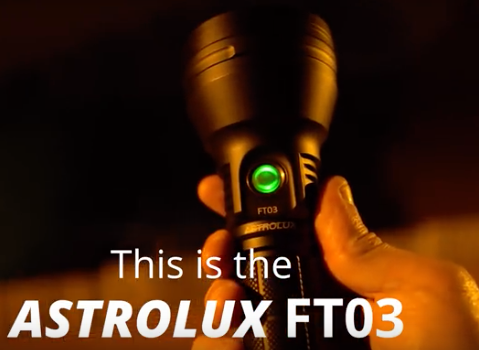 Astrolux FT03 SST40-W 2400lm 875m NarsilM v1.3 USB-C Rechargeable 2A 26650 21700 18650 LED Flashlight Mini Torch