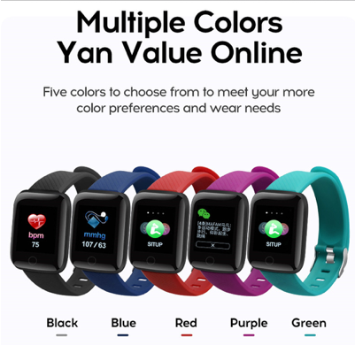 """This smart watch has a number of special functions including, remote camera control, """"Filp"""" the wrist screen wake up, alarm clock and find the phone Delivers! The health function is exceptional, allowing you to monitor your heart rate, blood pressure, and sleep patterns."""