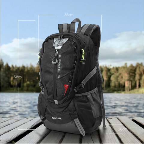 RockX™ Backpack - 40L Waterproof Nylon Unisex Sports or Travel Rucksack