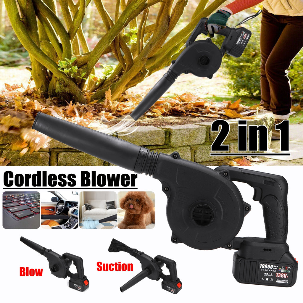 2 In 1 Cordless Electric Blower Vacuum Multi Functional for Home Car Cleaning
