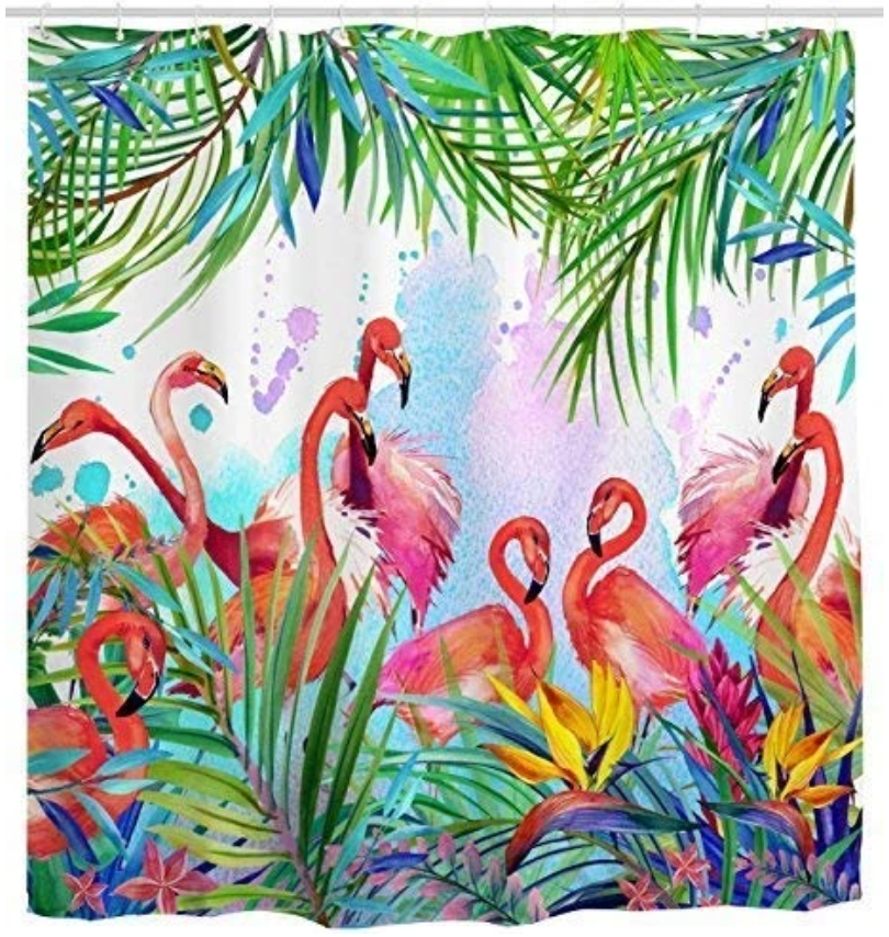 very best flamingo shower curtain
