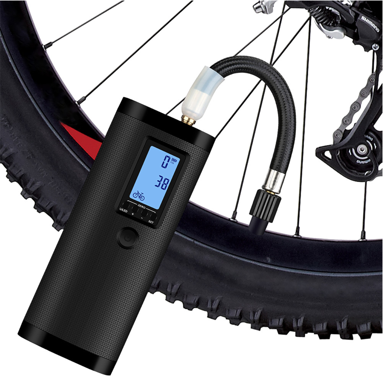 Xmund Auto Car Tire Pump. Electric, USB Rechargeable w LCD Display also for Trucks, Motorcycles & Bikes.