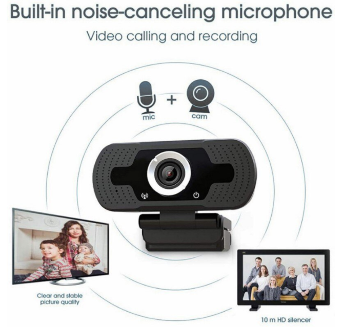 CAMOZ™ Australia Best Webcam 1080p Computer Camera For PC Laptop Computer Mac USB Microphone & Streaming