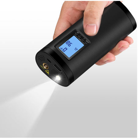 Xmund® Auto Tire Pump. Portable Electric, USB Rechargeable w LCD Display. Cars, Trucks & Bikes