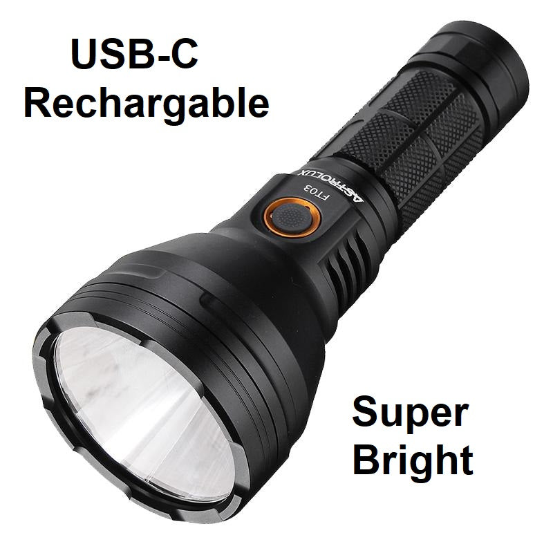 Astrolux® Best LED Tactical Flashlight Torch Rechargeable Most Powerful 2400 Lumens
