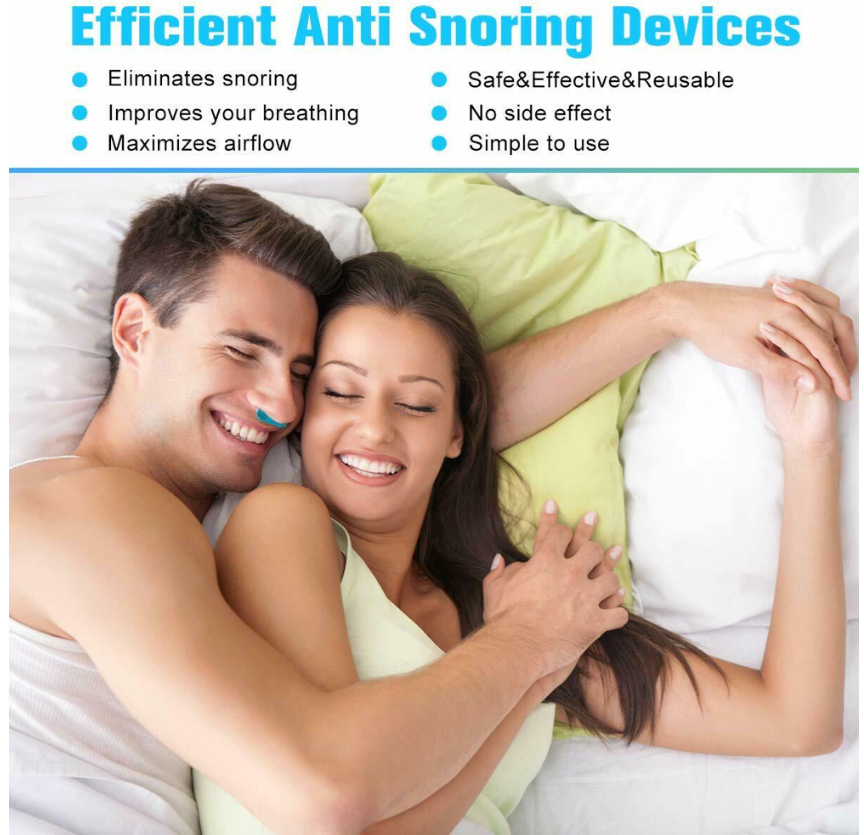 SnoreX™ Best Anti Snoring Nose Clip Device Sleep Aid USB Rechargeable with Air Purifier