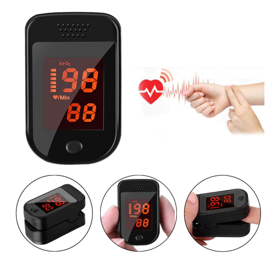 AKIYA™ Spo2 Finger Pulse Oximeter Oxygen Saturation Monitor Finger Oxygen Sensor Blood Oxygen Meter Best Infant Pulse Oximeter
