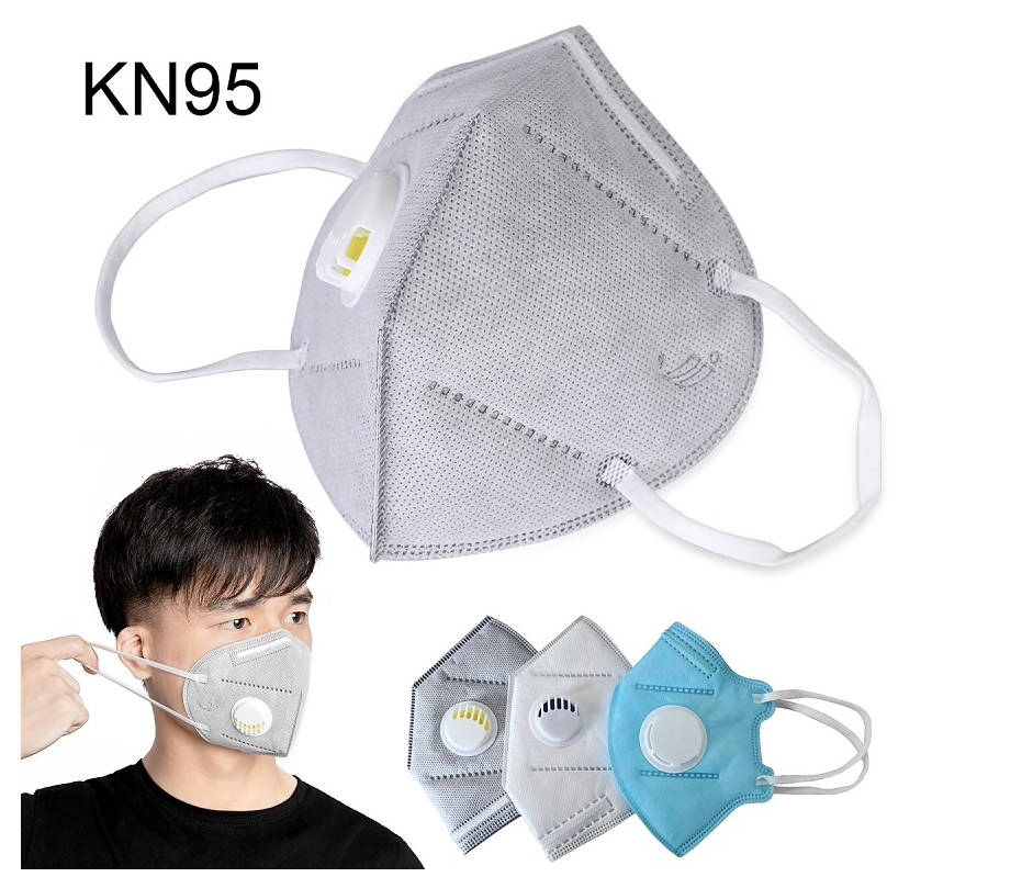 KN95 Face Masks Protective Safety Flu Anti Infection 5 Pack Valved Mask