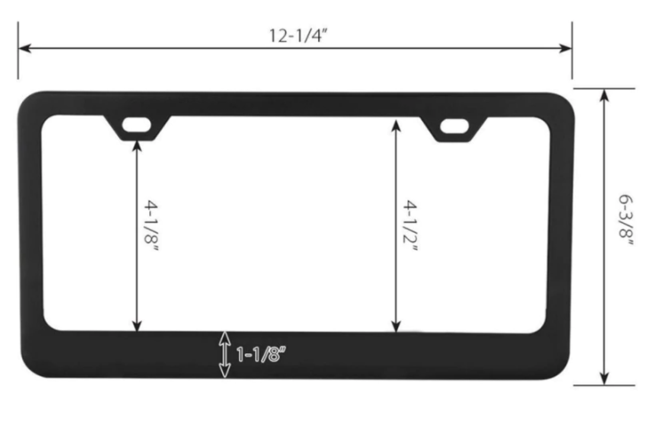 black license plate frames