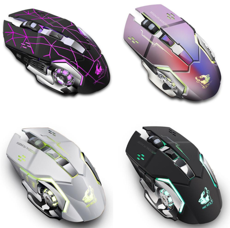 ROCKX™ Best Wireless Gaming Mouse (Mice) Cool Lightest Top Gaming Mouse for PC Laptop Desktop