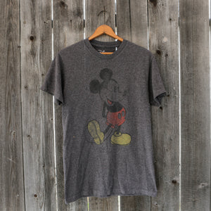 Disney Mickey Mouse T Shirt | Charcoal Grey | Size Small
