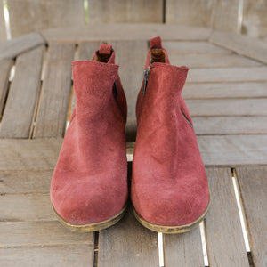 Lucky Brand | Ankle Booties Maroon | Women's Size 8