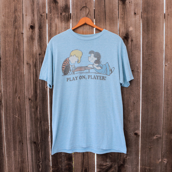 True Vintage | Player On, Player Peanuts T Shirt | Men's Size Small