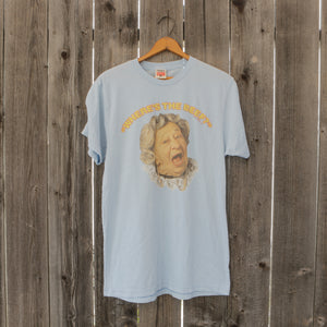 Where's The Beef Vintage T Shirt | Light Blue | Unisex Size Medium