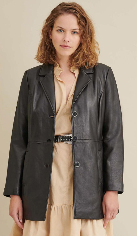 Charlotte Thinsulate Leather Car Coat