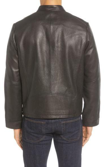 Orlando Leather Racer Coat