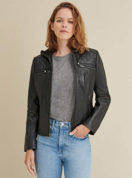 Kendra Leather Rider Jacket
