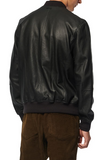 Praslin Zenith Lambskin Leather Bomber Jacket