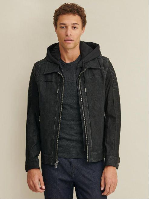 Thomas Leather Hooded Jacket