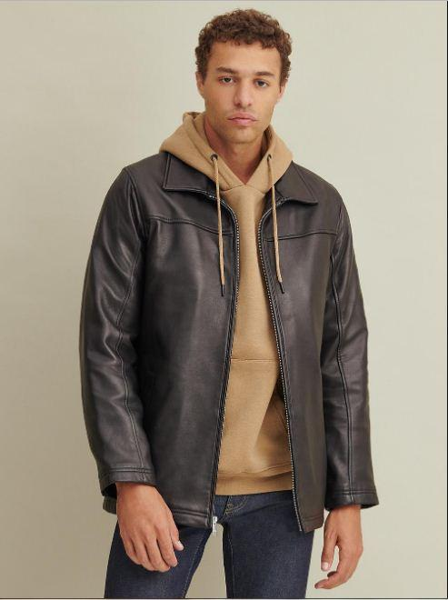 Bruce Leather Jacket with Thinsulate™ Lining