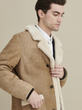 Louis Real Shearling Three Button Marlboro Coat