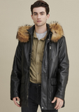 Jasper Leather Parka