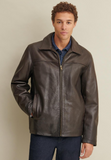 Big & Tall Leather Jacket with Thinsulate Lining
