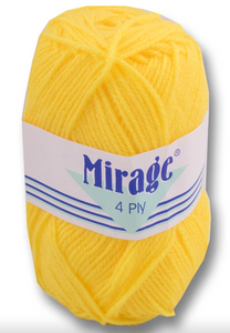 Mirage Wool - 4 Ply 25g (Yellow)