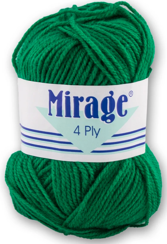 Mirage Wool - 4 Ply 25g (Emerald)