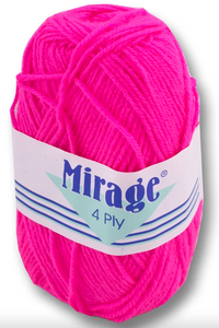Mirage Wool - 4 Ply 25g (Cerise)