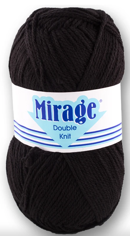Mirage Wool - Double Knit 100g (Black)